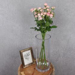 플플 미니 핑크장미 한단 생화꽃다발 (OPP포장)