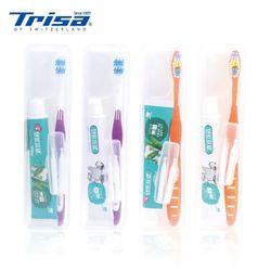 트리사 휴대용칫솔 플러스 미백치약 치간칫솔 0595