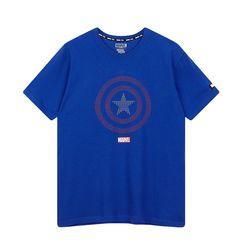 마블 캐릭터 비즈 반팔 티셔츠