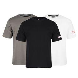 마블 소매 로고 포인트 무지 반팔 티셔츠