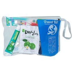 트리사 여행용칫솔 플러스치약 치실 비누 면도기 종합세트 6082