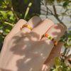 봄 비즈 반지 (simple line) - beads ring