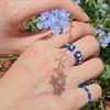 블루베리 비즈 반지 (flower) - beads ring