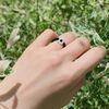 블랙 화이트 비즈 반지 - black white beads ring
