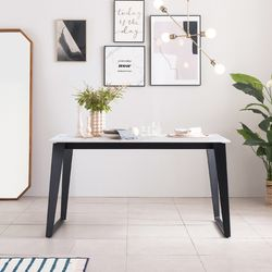 아놀드 포세린 통세라믹 4인용 식탁 테이블 1400