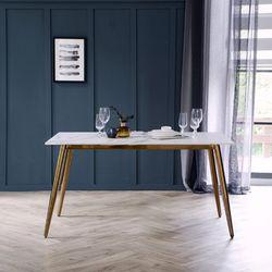 제나 포세린 통세라믹 4인용 식탁 테이블 1400