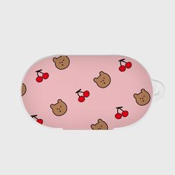 line cherry gummy pattern 갤럭시 버즈케이스