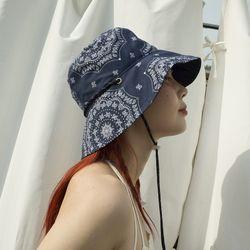 Paisley 2way hat (navy)