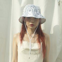 Paisley 2way hat  (white)