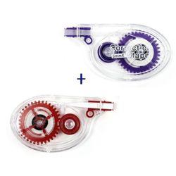 한국연필 롱 수정테이프 2개(레드&보라) 묶음판매