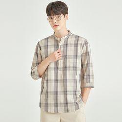 [쿨비즈] 매쉬 풀오버 7부 셔츠_SPYWA37M93
