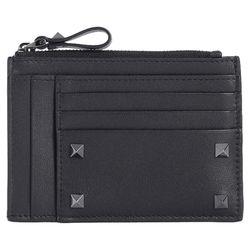 18FW 락스터드 동전카드지갑 블랙 QY2P0688 VH3 0NO