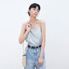LINEN BASIC SLEEVELESS SKY BLUE