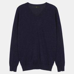 V넥 메탈사 스웨터 ALKL19T01
