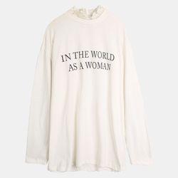 넥 레이스 레터링 티셔츠 TRLA19343