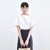SIMPLE SQUARE NECK BLOUSE IVORY