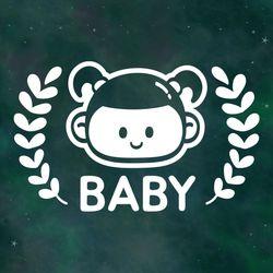 아기가타고있어요 스티커 LMCB-075 벨리