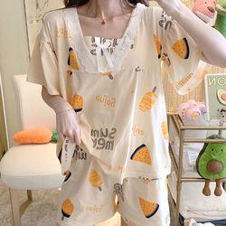여름 잠옷 파자마 여름파자마세트 러블리 썸머 홈웨어세트