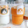 유리컵 - 곰돌이빵 고양이 & 식빵 고양이