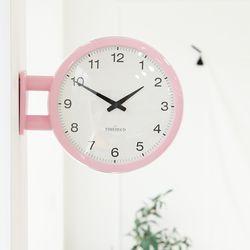 사랑스러운 베이비핑크의 매력 모던양면시계 A5