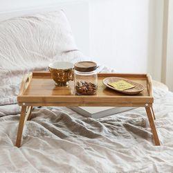 우드 침대 접이식 테이블