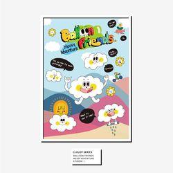 벌룬프렌즈 A4 A3 포스터 - 구름친구들 클로디