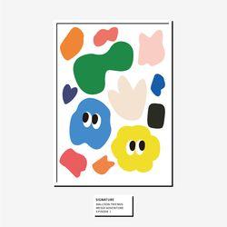 벌룬프렌즈 A4 A3 포스터 - 시그니쳐 패턴