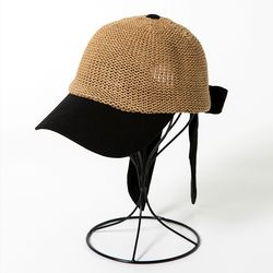 [더로라]패션 야구 모자-지사 리본 캡 H001