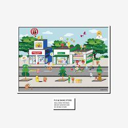 벌룬프렌즈 플리징스토어 포스터 - A4 A3 A2