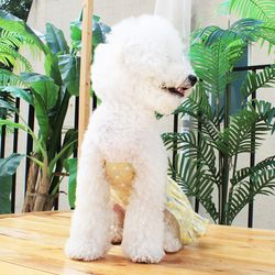 [DOG] 몽페레 프로방스 홀터넥원피스 Lemon grass (케이프별도)