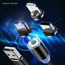 3종커넥터 usb 고속충전 자석케이블 LED 5핀8핀C타입