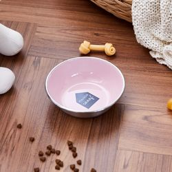 펫본)메종 WOOF 식기 350ml 핑크