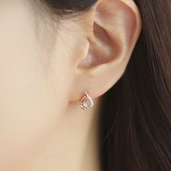 OST 프리티 라인하트 실버 귀걸이 OTS120713QPW