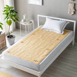 13mm 디자인 대나무 마작자리 침대용 대자리 90x180cm 싱글