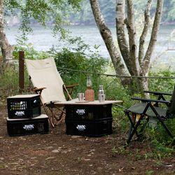 비닐포장 JWK 캠핑 멀티 밀크 박스 다용도 공간박스 유닛 바스켓