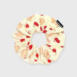 Cherry nini-ivory(곱창머리끈)