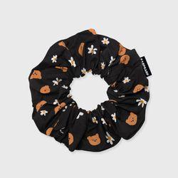 Dot flower bear-black(곱창머리끈)