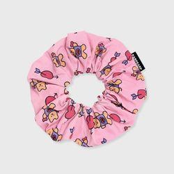 Bear heart-pink(곱창머리끈)
