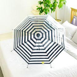 wpc우산 보더 스마일리 투명 장우산 PT-022