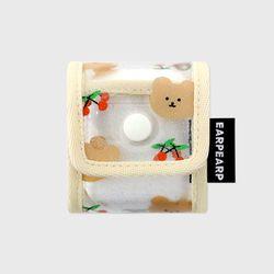 Dot cherry bear-ivory(PVC Air pods)