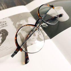 심플 패턴 반무테 동그란 안경n707