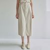 LINEN CARGO H LONG SKT [LIGHT BEIGE]