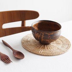 라탄 테이블 식탁 매트 소품 L사이즈