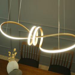 LED 에게르 펜던트 골드 리본 카페 웨이브 식탁 포인트 조명
