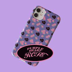 [뮤즈무드] purple heart rose 아이폰케이스