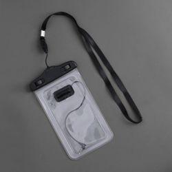이어폰연결 스마트폰 방수팩(투명)