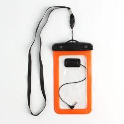 이어폰연결 스마트폰 방수팩(오렌지)