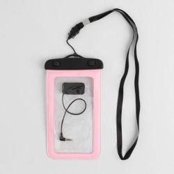 이어폰연결 스마트폰 방수팩(핑크)