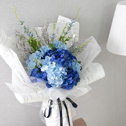 드라빌수국꽃다발 85cmP 조화 꽃다발 선물 FMBBFT