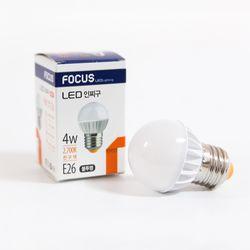 LED 인치구 전구 4W (불투명노란빛)